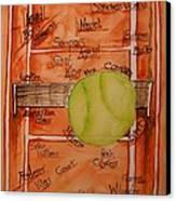 Clay Courters Canvas Print by Elaine Duras