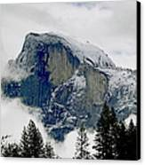 Clearing Storm Around Half Dome Canvas Print by Bill Gallagher