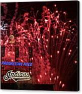 Cleveland Indians Canvas Print by Frozen in Time Fine Art Photography