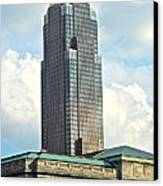 Cleveland Key Bank Building Canvas Print by Frozen in Time Fine Art Photography