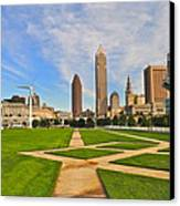 Cleveland Skyline Canvas Print by Frozen in Time Fine Art Photography