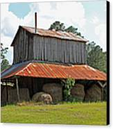 Clewis Family Tobacco Barn Canvas Print by Suzanne Gaff