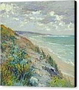 Cliffs By The Sea At Trouville  Canvas Print by Gustave Caillebotte