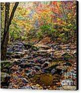 Clifty Creek In Hdr Canvas Print by Paul Mashburn