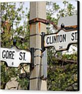 Clinton And Gore Canvas Print by Andrew Fare