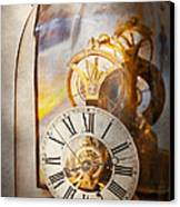 Clockmaker - A Look Back In Time Canvas Print by Mike Savad
