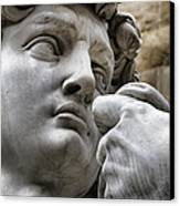 Close-up Face Statue Of David In Florence Canvas Print by David Smith