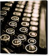 Close Up Vintage Typewriter Canvas Print by Edward Fielding