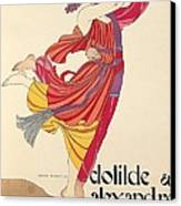 Clotilde And Alexandre Sakharoff Canvas Print by George Barbier