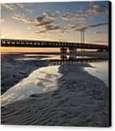 Coastal Ponds And Bridge II Canvas Print by Steven Ainsworth