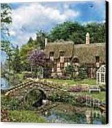Cobble Walk Cottage Canvas Print by Dominic Davison