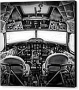 cockpit of a DC3 Dakota Canvas Print by Paul Fell