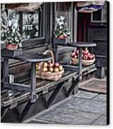 Coffe Shop Cafe Canvas Print by Heather Applegate