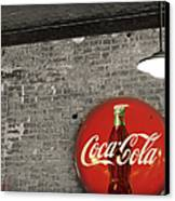 Coke Cola Sign Canvas Print by Paulette B Wright