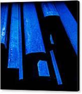 Cold Blue Steel Canvas Print by Steven Milner