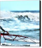 Cold Feet - Stormy Seas - Outer Banks Canvas Print by Dan Carmichael