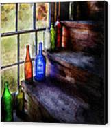 Collector - Bottle - A Collection Of Bottles Canvas Print by Mike Savad