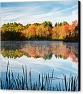 Color On Grist Millpond Canvas Print by Michael Blanchette