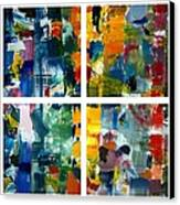 Color Relationships Collage Canvas Print by Michelle Calkins