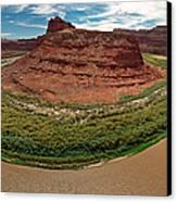 Colorado River Gooseneck Canvas Print by Adam Romanowicz