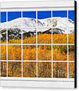Colorado Rocky Mountain Autumn Pass White Window View  Canvas Print by James BO  Insogna