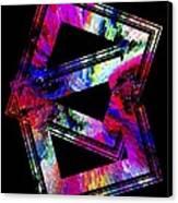 Colored Geometric Art Canvas Print by Mario Perez