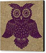 Colored Owl 1 Of 4  Canvas Print by Kyle Wood
