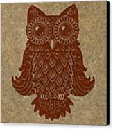 Colored Owl 2 Of 4  Canvas Print by Kyle Wood
