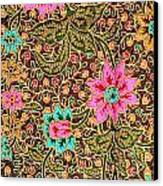 Colorful Batik Cloth Fabric Background  Canvas Print by Prakasit Khuansuwan