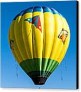 Colorful Hot Air Balloon Over Vermont Canvas Print by Edward Fielding