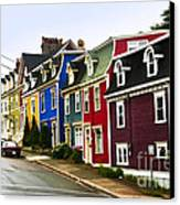 Colorful Houses In Newfoundland Canvas Print by Elena Elisseeva