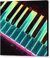Colorful Keys Canvas Print by Bob Orsillo