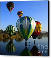 Colorful Landings Canvas Print by Mike  Dawson