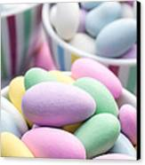 Colorful Pastel Jordan Almond Candy Canvas Print by Edward Fielding