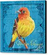 Colorful Songbirds 4 Canvas Print by Debbie DeWitt