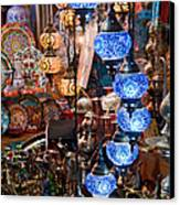 Colorful Traditional Turkish Lights  Canvas Print by Leyla Ismet