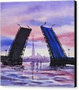 Colors Of Russia Bridges Of Saint Petersburg Canvas Print by Irina Sztukowski