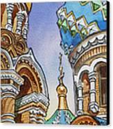 Colors Of Russia St Petersburg Cathedral II Canvas Print by Irina Sztukowski