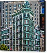 Columbus Tower In San Francisco Canvas Print by RicardMN Photography