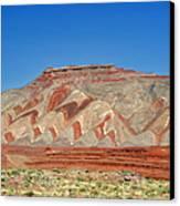 Comb Ridge Utah Near Mexican Hat Canvas Print by Christine Till