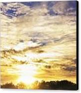 Combine At Sunset Canvas Print by Michael Huddleston