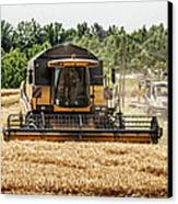 Combine Harvester Canvas Print by Georgia Fowler