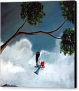 Comfortable Silence By Shawna Erback Canvas Print by Shawna Erback