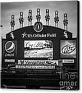 Comiskey Park U.s. Cellular Field Scoreboard In Chicago Canvas Print by Paul Velgos