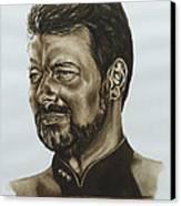 commander William Riker Star Trek TNG Canvas Print by Giulia Riva