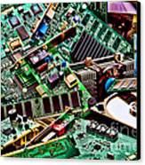 Computer Parts Canvas Print by Olivier Le Queinec