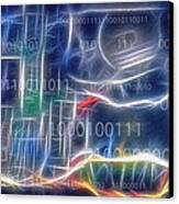 Computing - Fractalius Canvas Print by Steve Ohlsen