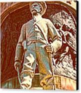 Confederate Soldier Statue I Alabama State Capitol Canvas Print by Lesa Fine