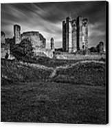 Conisbrough Castle Doncaster Canvas Print by Ian Barber