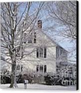 Connecticut Winter Canvas Print by Michelle Welles